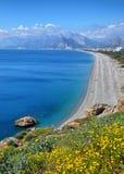 Παραλία Konyaalti, Antalya Στοκ φωτογραφία με δικαίωμα ελεύθερης χρήσης