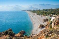 Παραλία Konyaalti, Antalya Στοκ Εικόνα