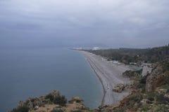 Παραλία Konyaalti, Antalya Στοκ φωτογραφίες με δικαίωμα ελεύθερης χρήσης