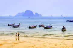 Παραλία Krabi Ταϊλάνδη AO Nang Στοκ Φωτογραφία