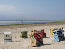 Παραλία Langeoog Στοκ Εικόνες