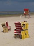 Παραλία Langeoog Στοκ Εικόνα
