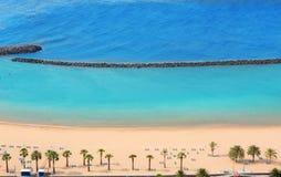 Παραλία Las Teresitas στο Βορρά Santa cruz de Tenerife Στοκ φωτογραφία με δικαίωμα ελεύθερης χρήσης