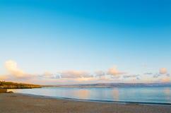Παραλία Lazzareto μια σαφή ημέρα στο ηλιοβασίλεμα Στοκ εικόνες με δικαίωμα ελεύθερης χρήσης