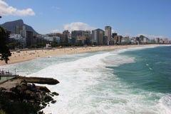 Παραλία Leblon - Ρίο ντε Τζανέιρο Στοκ Εικόνες