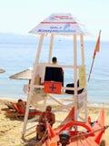 Παραλία Lifeguard, Ελλάδα Στοκ Φωτογραφία