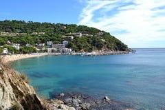 Παραλία Llafranc, Ισπανία Στοκ φωτογραφία με δικαίωμα ελεύθερης χρήσης
