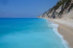 Παραλία, Llefkada, Ελλάδα Στοκ φωτογραφία με δικαίωμα ελεύθερης χρήσης