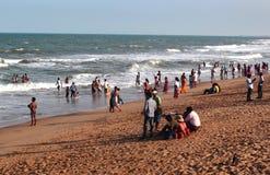 Παραλία Mahabalipuram Στοκ Φωτογραφίες