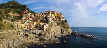 Παραλία Manarola σε Cinque Terre Ιταλία Στοκ εικόνα με δικαίωμα ελεύθερης χρήσης