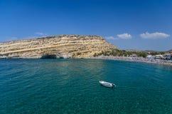 Παραλία Matala Στοκ Φωτογραφία