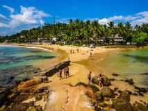 Παραλία Mirissa, Σρι Λάνκα Στοκ εικόνα με δικαίωμα ελεύθερης χρήσης