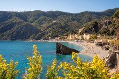 Παραλία Monterosso Στοκ φωτογραφίες με δικαίωμα ελεύθερης χρήσης