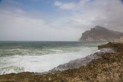 Παραλία Mughsayl Στοκ Εικόνες