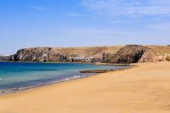 Παραλία Mujeres Playa σε Lanzarote, Κανάρια νησιά, Ισπανία Στοκ Εικόνες