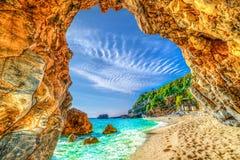 Παραλία Mylopotamos, Pelion, Ελλάδα Στοκ εικόνα με δικαίωμα ελεύθερης χρήσης