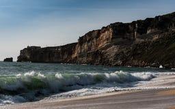 Παραλία Nazaré - Πορτογαλία Στοκ Εικόνες