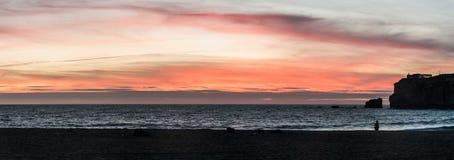 Παραλία Nazaré - Πορτογαλία Στοκ εικόνα με δικαίωμα ελεύθερης χρήσης