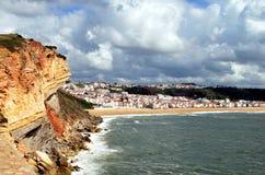 Παραλία Nazare στην Πορτογαλία Στοκ εικόνες με δικαίωμα ελεύθερης χρήσης