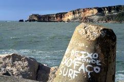 Παραλία Nazare στην Πορτογαλία Στοκ φωτογραφία με δικαίωμα ελεύθερης χρήσης