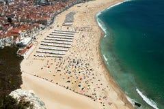 Παραλία Nazare στοκ φωτογραφία με δικαίωμα ελεύθερης χρήσης