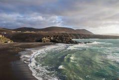Παραλία Negra Caleta Στοκ εικόνα με δικαίωμα ελεύθερης χρήσης