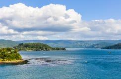 Παραλία Niebla, Valdivia, Χιλή Στοκ Φωτογραφίες