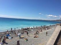 Παραλία Nizza Στοκ Εικόνα