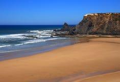 Παραλία Odeceixe, ακτή Vicentine, Αλεντέιο, Πορτογαλία Στοκ Εικόνες