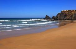 Παραλία Odeceixe, ακτή Vicentine, Αλεντέιο, Πορτογαλία Στοκ Φωτογραφίες