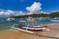 Παραλία Padangbai - νησί Ινδονησία του Μπαλί Στοκ φωτογραφία με δικαίωμα ελεύθερης χρήσης