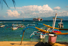 Παραλία Padangbai Νησί Ινδονησία του Μπαλί Στοκ Εικόνα