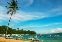 Παραλία Padangbai Νησί Ινδονησία του Μπαλί Στοκ εικόνες με δικαίωμα ελεύθερης χρήσης