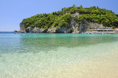 Παραλία Paleokastritsa στο νησί Κέρκυρα, Ελλάδα Στοκ Φωτογραφίες