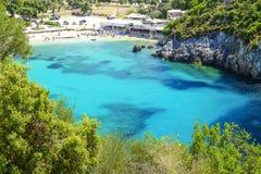 Παραλία Paleokastritsa στο νησί Κέρκυρα, Ελλάδα Στοκ φωτογραφία με δικαίωμα ελεύθερης χρήσης