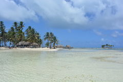 Παραλία Paradisaical στο αρχιπέλαγος SAN Blas, Panamà ¡ Στοκ εικόνα με δικαίωμα ελεύθερης χρήσης