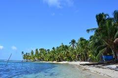 Παραλία Paradisaical στο αρχιπέλαγος SAN Blas, Panamà ¡ Στοκ φωτογραφία με δικαίωμα ελεύθερης χρήσης
