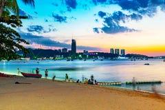 Παραλία Pattaya το βράδυ Στοκ Εικόνες