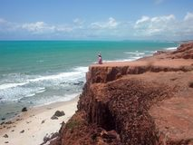 Παραλία Pipa, Βραζιλία Στοκ εικόνα με δικαίωμα ελεύθερης χρήσης
