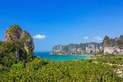 παραλία railay Επαρχία Krabi, Ταϊλάνδη Στοκ Φωτογραφίες
