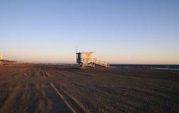 Παραλία Rogers πύργων Lifeguard κατά βούληση Στοκ Εικόνες