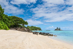 Παραλία Royale Anse, νησί Mahe, Σεϋχέλλες Στοκ Φωτογραφίες