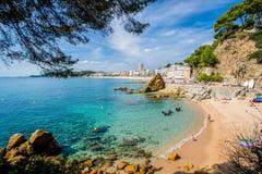 Παραλία Sa Caleta Lloret de Mar στοκ εικόνα