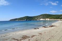 Παραλία Salines Ses σε Ibiza, Ισπανία Στοκ Φωτογραφία