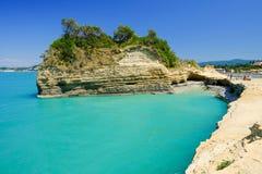 Παραλία Sidari στο νησί Κέρκυρα, Ελλάδα Στοκ φωτογραφία με δικαίωμα ελεύθερης χρήσης