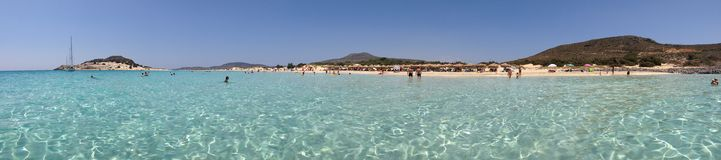 Παραλία Simos, Elafonisos, Ελλάδα Στοκ εικόνα με δικαίωμα ελεύθερης χρήσης