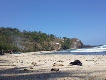 Παραλία Siung Yogyakarta Στοκ φωτογραφίες με δικαίωμα ελεύθερης χρήσης