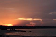 Παραλία Songkhla ανατολής και πολλοί άνθρωποι Στοκ Φωτογραφίες