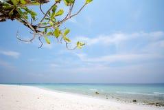 Παραλία TA Chai με το μπλε ουρανό, Ταϊλάνδη Στοκ Εικόνα