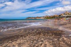Παραλία Tenerife στο νησί - καναρίνι Στοκ Φωτογραφία